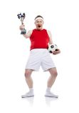 Funny football player Royalty Free Stock Photos