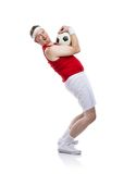 Funny football player Stock Photo