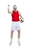 Funny football player Royalty Free Stock Photo