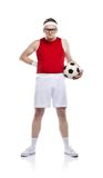 Funny football player Stock Images
