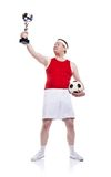 Funny football player Royalty Free Stock Images