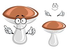 Funny forest mushroom cartoon character Royalty Free Stock Images
