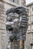 The funny fountain of the masks in Viale XX Settembre, Trieste, Friuli Venezia Giulia, Italy. Europe stock photos