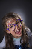 Funny four years girl making faces Royalty Free Stock Photo