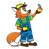 Fox farmer ABC Alphabet F for kids