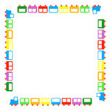 Funny frame. Toy train frame for child Stock Photos