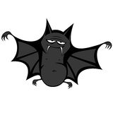 Funny freaky bat. A big black fat bat is smiling at you Royalty Free Stock Photography