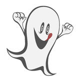 Funny freaky ghost Royalty Free Stock Image