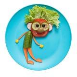 Funny fresh vegetable man Stock Photos