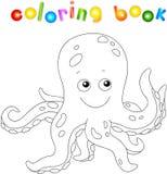 Funny and friendly cartoon octopus Stock Photos