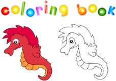 Funny and friendly cartoon seahorse Stock Photo