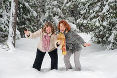 Funny friends Stock Images