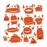 Funny friends crabs, sketch for your design Royalty Free Stock Photos
