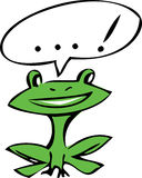 Funny frog vector illustration