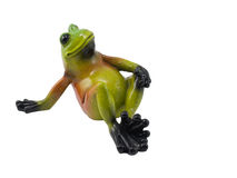 Funny Frog. On a white background/ Isolated stock images