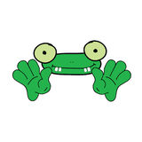 Funny frog animal green vector. Funny frog animal color vector illustration on a white Royalty Free Stock Photo