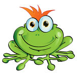 Funny frog Royalty Free Stock Photography