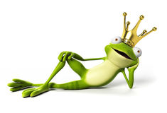 Funny frog - character Royalty Free Stock Photo