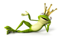 Funny frog - character Royalty Free Stock Image