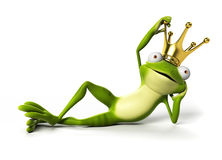 Funny frog - character Royalty Free Stock Photography