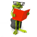 Funny frog - character Royalty Free Stock Images