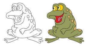 Funny frog royalty free illustration