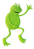Funny frog dancing on the right Stock Photo