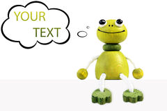 Funny frog figure Stock Photo