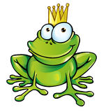 Funny frog prince. With crown Royalty Free Stock Photo