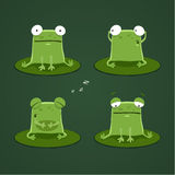 Funny frogs set one Royalty Free Stock Images