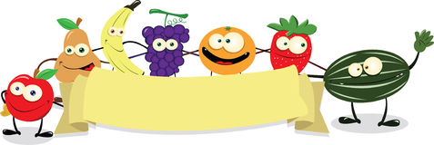 Funny Fruit Banner Royalty Free Stock Images