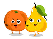Funny fruit  cartoon characters Stock Photography