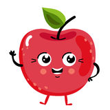 Funny fruit cherry isolated cartoon character. Cute fruit cherry cartoon character isolated on white background vector illustration. Funny positive and friendly Stock Photography