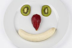 Funny fruit face Stock Photography