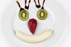 Funny fruit face Royalty Free Stock Photo