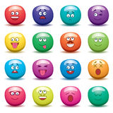 funny fruit jelly faces, vector  Stock Image