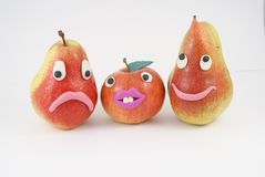 Funny fruit manikins Stock Images