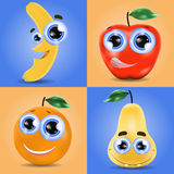Funny fruit set Royalty Free Stock Photos