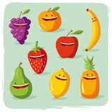 Funny fruits Stock Photos