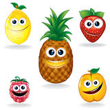 Funny Fruits A stock illustration