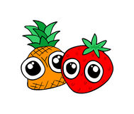 Funny fruits design. Creative design of funny fruits design Stock Photography