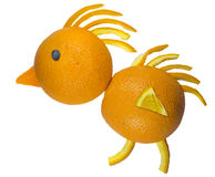 Funny Fruits - Oranges Chicken Stock Photos