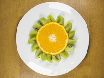 Funny Fruits - Oranges Flower royalty free stock photo