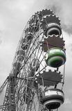 Funny funfair. Big wheel with desaturate effect Stock Images