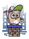 Funny Funny Bird Drawing Street Art. Eps Royalty Free Stock Photography