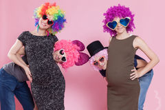 Funny future parents Royalty Free Stock Photography