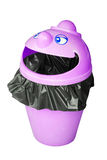 Funny garbage bin Royalty Free Stock Image