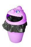 Funny garbage bin Royalty Free Stock Image