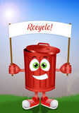 Funny garbage bin for recycle Royalty Free Stock Photos