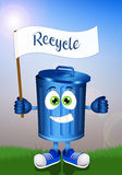 Funny garbage bin for recycling Royalty Free Stock Photography